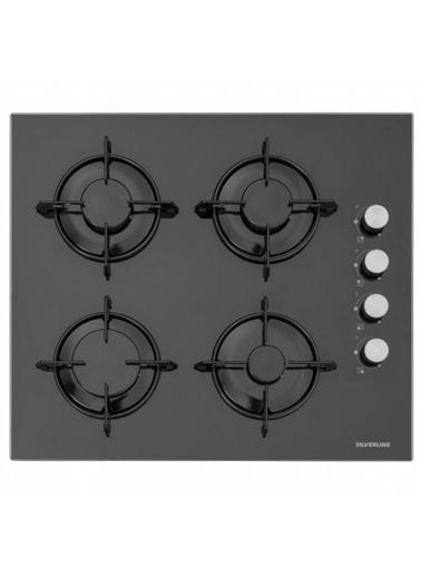 Silverline CS5349B01 4 Gözlü Siyah 60 cm Cam Ankastre Ocak Renkli